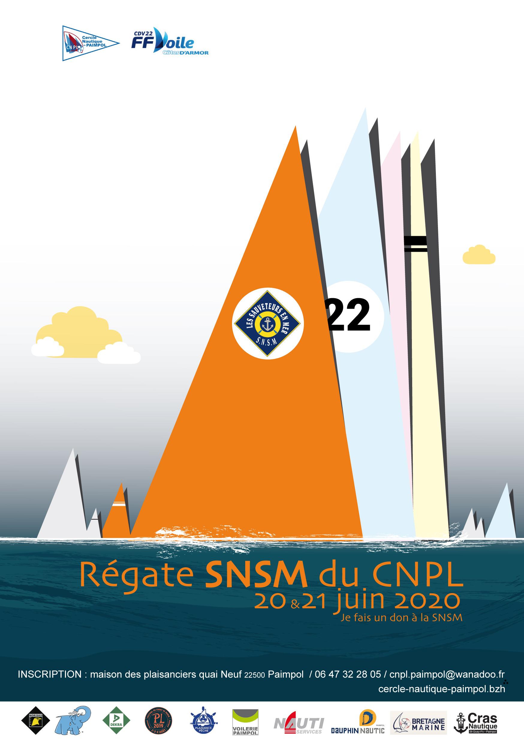 Régate S.N.S.M. 20 et 21 juin 2020